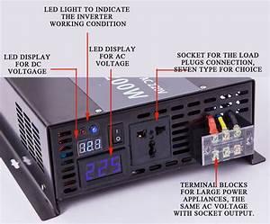 36v To 120v Dc To Ac Power Inverter 3000w Pure Sine Wave