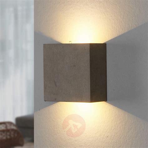 yva led wandleuchte aus beton kaufen lampenweltch