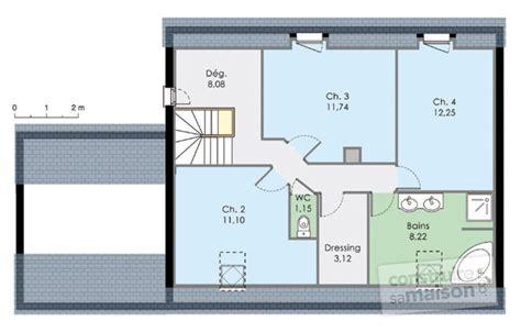 plan maison etage 4 chambres maison moderne de quatre chambres dé du plan de