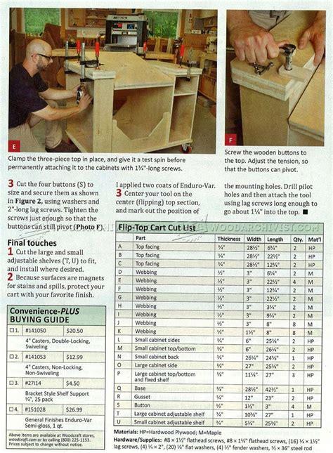 flip top tool stand plans woodarchivist