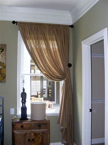 Drapery Curtains Window Designs Adorn Brown Blinds