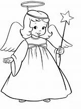 Coloring Christmas Pages Angel Angels Printable Print Drawing Drawings Clipart Printables Simple Line Colouring Outline Clip Star Adult Collection Sheets sketch template