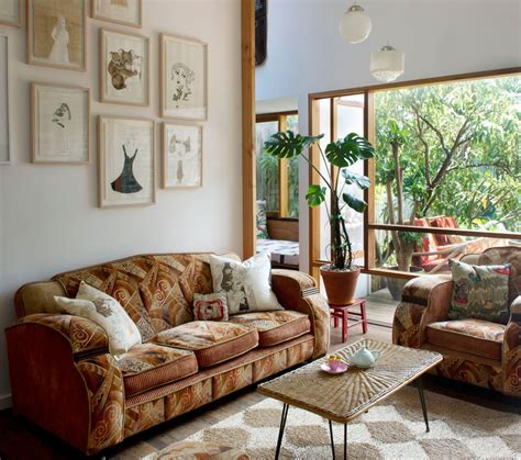 eclectic living room furniture ideas unique pattern on