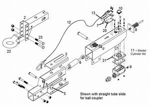 612thg Parts Breakdown - Surge Brake Actuator Parts