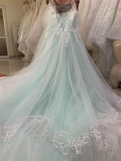 styles pastel mint green floral lace ball gown