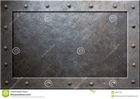 metal pictures metal frame stock photo image 43821754