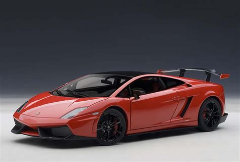autoart highly detailed die cast model red lamborghini
