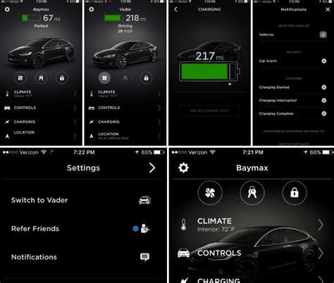 tesla refreshes mobile app  modern ui touch id