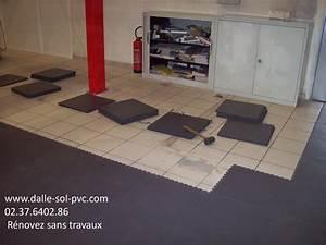 Revetement Sol Vinyle Clipsable : lino pour commerce contact dalle sol pvc com une ~ Premium-room.com Idées de Décoration