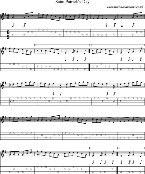 St patrick's day chord e. American Old-time music, Scores and Tabs for Mandolin ...