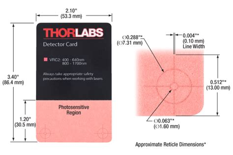 thorlabscom laser viewing cards