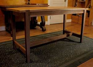Wooden Craft Table PDF Woodworking