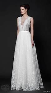 tony ward 2016 wedding dresses abstract roses bridal With v neck a line wedding dress