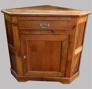 Meuble En Coin : encoignure meuble de coin en merisier bois ancien ~ Teatrodelosmanantiales.com Idées de Décoration