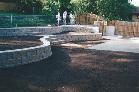 drainage and landscaping yard drainage landscaping gabel concrete construction co lincoln nebraska