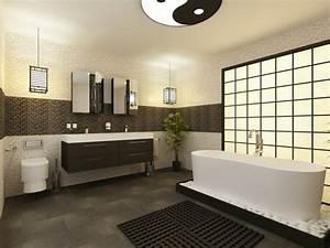 salle de bain noire marron et grise comment l39amenager With salle de bain design avec mug à décorer
