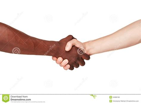 un si鑒e black and white human in a modern handshake stock photo image 54989180