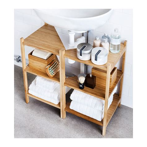 Ikea Rågrund Sink Shelf Corner Shelf Bamboo Bath Storage