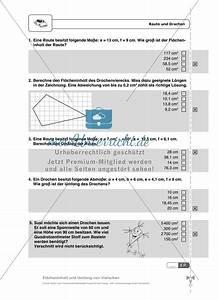 Flächeninhalt Parallelogramm Berechnen : fl cheninhalt und umfang von trapezen drachen und ~ Themetempest.com Abrechnung