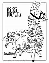 Fortnite Llama Coloring Loot Draw Pages Drawing Battle Printable Colouring Royale Too Tutorial Drawittoo Wickedbabesblog sketch template