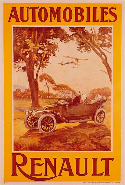 Renault Poster 1912 Posters Automobiles Cartype Company