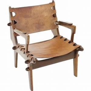 fauteuil cuir bois design idees de decoration interieure With fauteuil cuir bois design