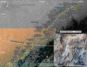 Curiosity's Traverse Map Through Sol 1353 | Mars Image
