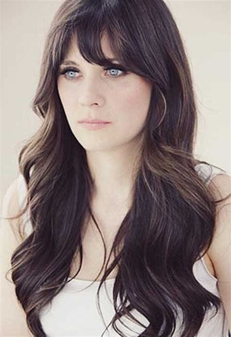 25 hairstyles with long bangs hairstyles haircuts 2016