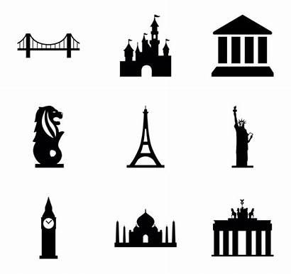 Landmarks Icon Silhouette Monuments Packs Clipart Landmark