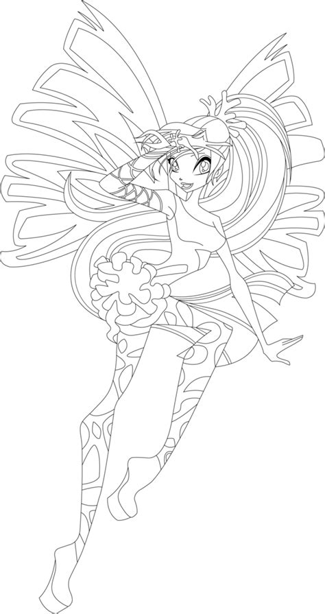 Kleurplaten Winx Club Believix by Winx Club Bloom Enchantix Coloring Pages Coloring Home