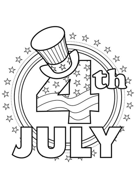 Free & Easy To Print 4th Of July Coloring Pages Tulamama