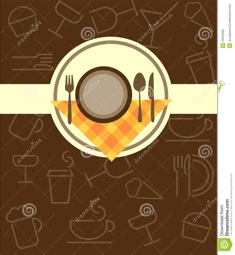 cloche de cuisine menu template for restaurant or coffee bar stock vector