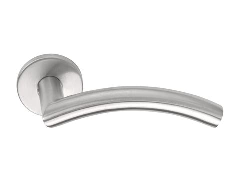 Stainless Steel Door Handle On Rose Basic Series By Formani®