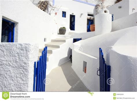 The Streets Of Santorini Stock Images Image 24642504