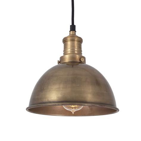 Brooklyn Vintage Small Metal Dome Pendant Light  Brass