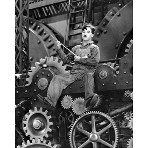 chaplin les temps modernes affiche 24x30 cm