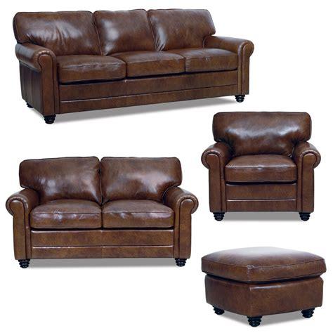 luke leather italian brown  sofa set sofaloveseat