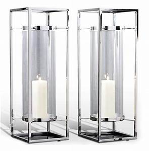 pair adour silver glass modern square tall hurricane With kitchen cabinets lowes with tall glass taper candle holders