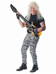 Unisex 80s Zebra Glam Rock Punk Star Trousers 1980s Fancy Dress Costume Outfit   New   Fancy ...