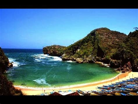 pantai baron tempat wisata gunung kidul yogyakarta youtube