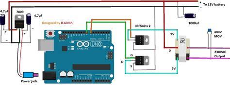 inverter circuit using arduino