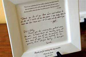 personal letter to parents on a platter wedding gift from With letter to bride from mother of the groom
