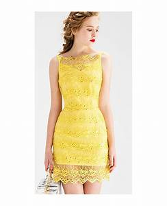 yellow sheath lace short wedding guest dress gemgrace With yellow wedding guest dress