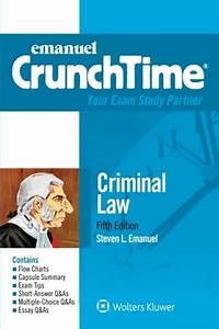 2015  Criminal Law  Emanuel Crunchtime  By Steven L