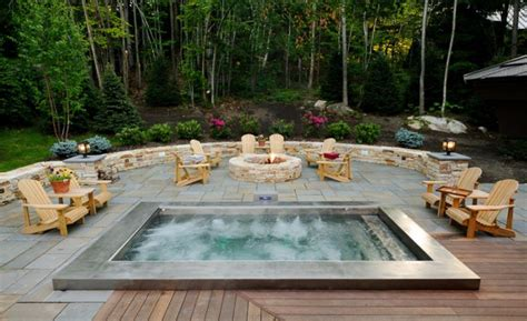 pictures of outdoor spas why outdoor jacuzzi hot tubs are so popular backyard design ideas