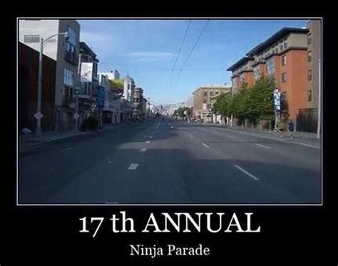 Parade Meme - 17th annual ninja parade funny meme image