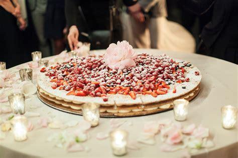Traditional Italian Millefoglie Wedding Cake With