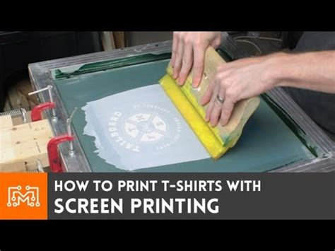how to print on silk screen print your own t shirts how to youtube