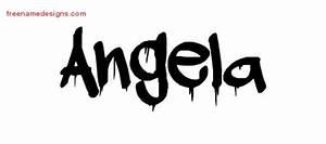 Graffiti Name Tattoo Designs Angela Free Lettering - Free ...