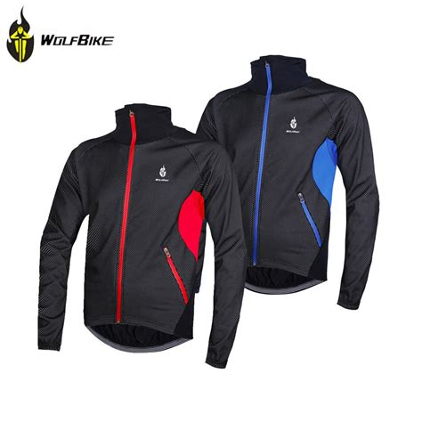 winter bicycle jacket wolfbike windproof men fleece winter cycling jersey